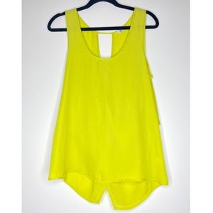 Tops - LIME GREEN BRIGHT SLEEVELESS BLOUSE